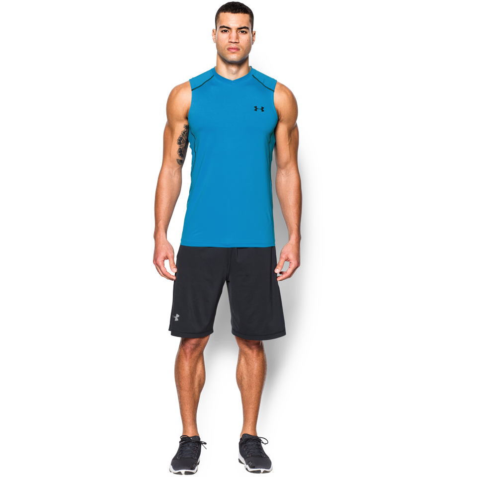 Under Armour Men's Raid Sleeveless Tee Electric Blue