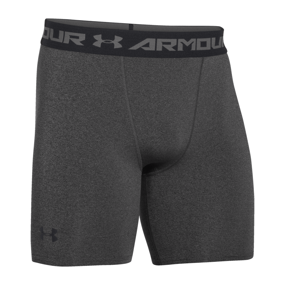 "Under Armour Men's 6"" Compression Short Carbon Heather"