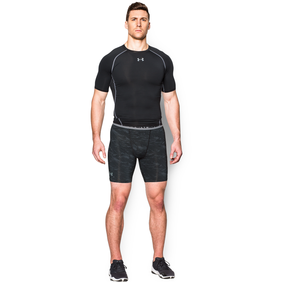 "Under Armour Men's Compression 6"" Short Carbon Heather"