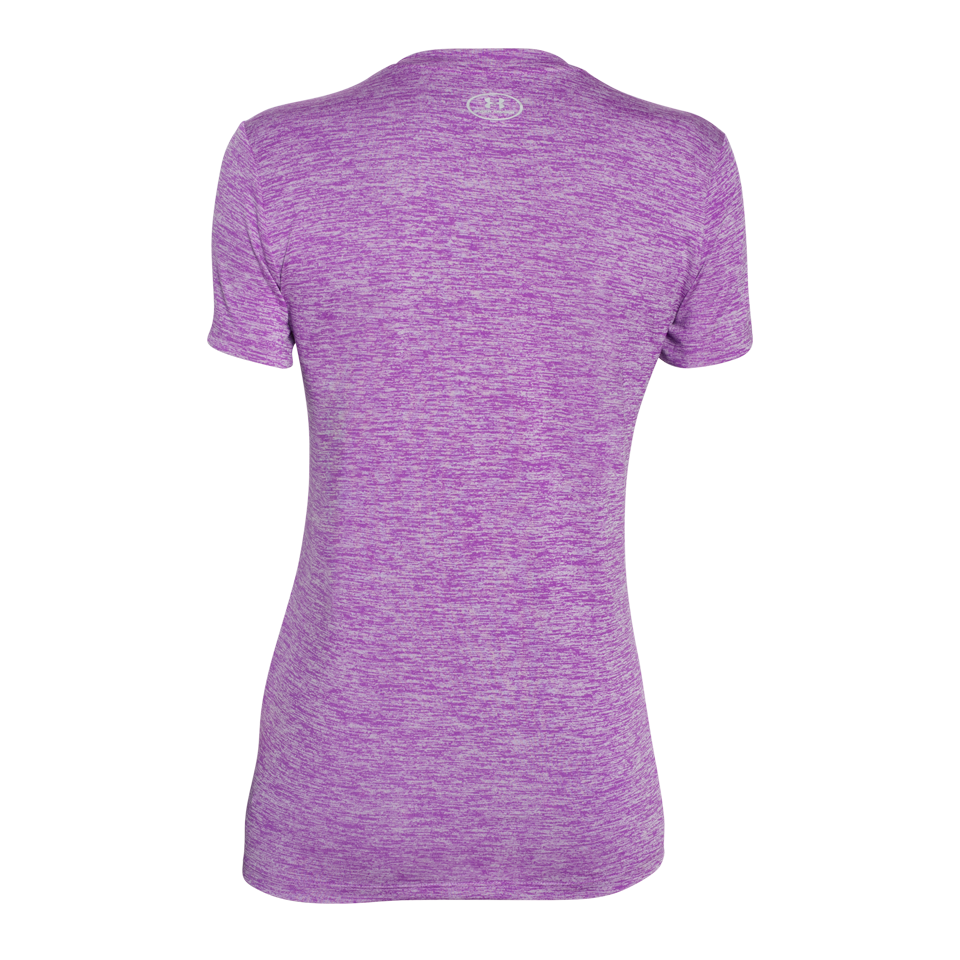 Under Armour Women's Tech V-Neck Twist Mega Magenta