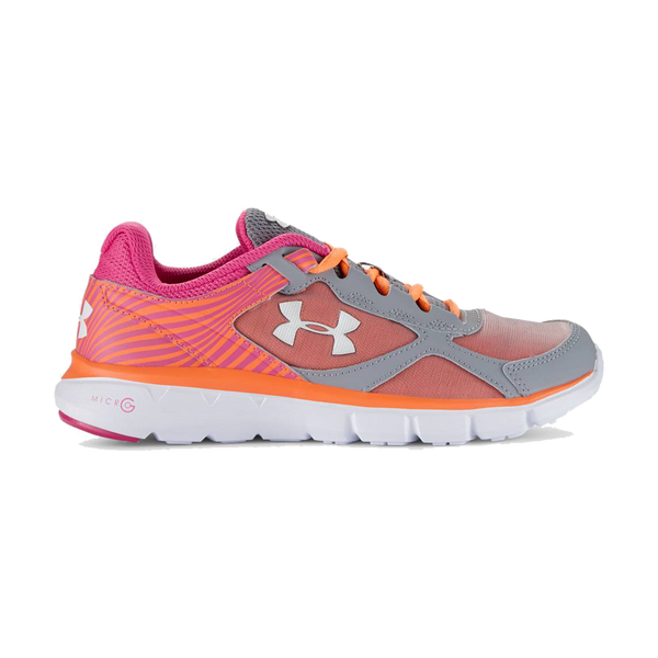 Under Armour Girls Micro G Velocity RN 3.5-7 Steel