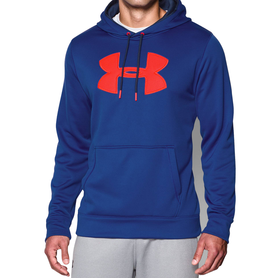 Under Armour Men's Armour Fleece Big Logo Hoodie Blue