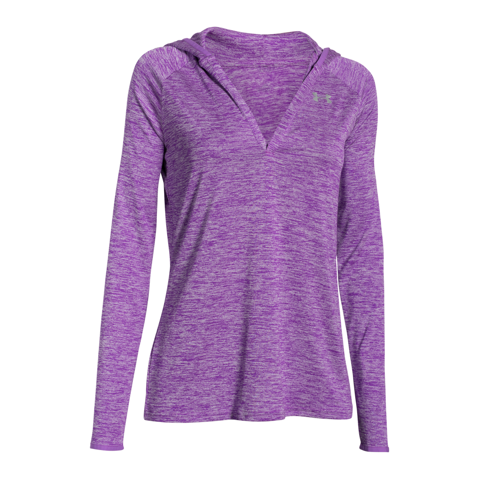 Under Armour Women's Tech LongSleeve Hoodie Mega Magenta