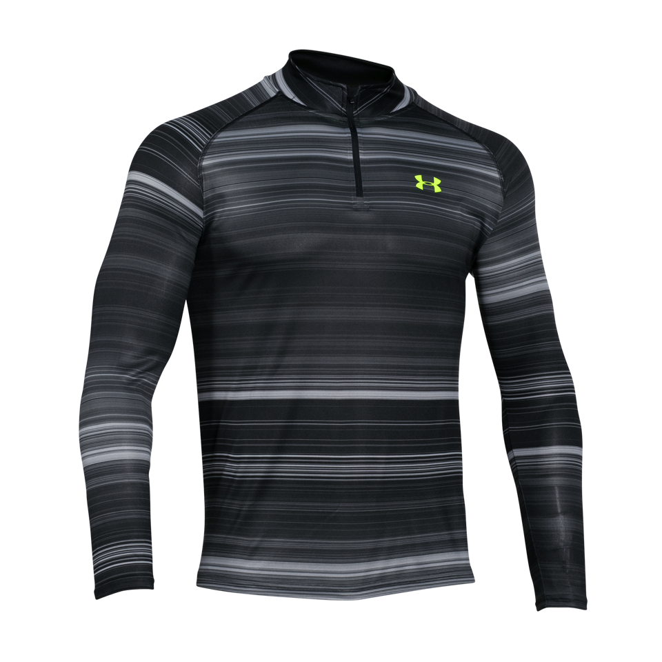 Under Armour Men's Printed 1/4 Zip True Grey Heather