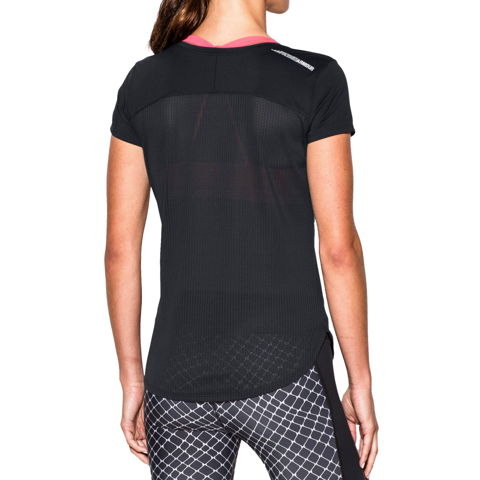 Under Armour Women's Fly By 2.0 Short Sleeve Black