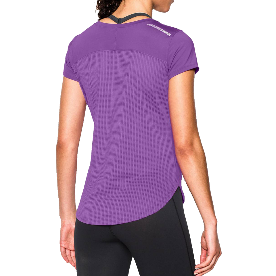 Under Armour Women's Fly By 2.0 Short Sleeve Mega Magenta