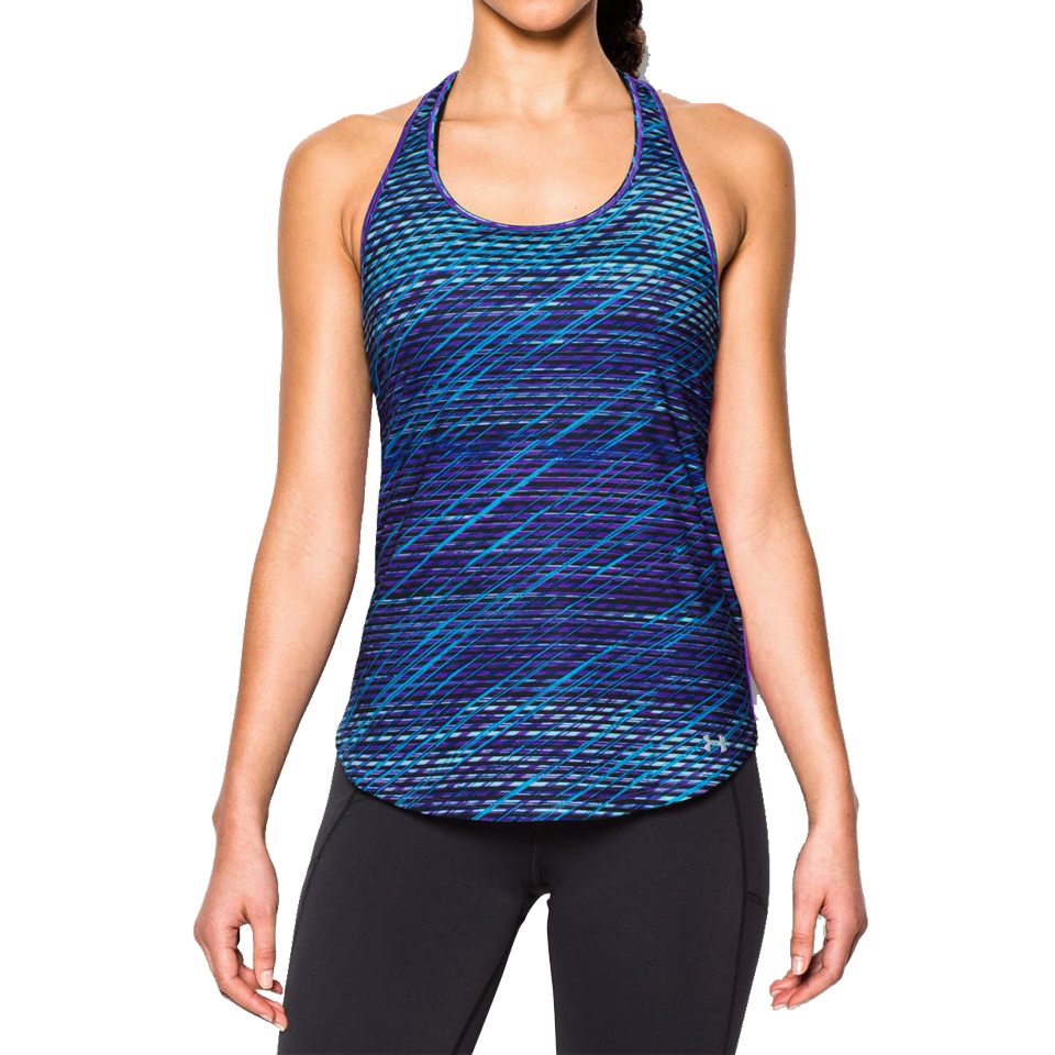 Under Armour Women's Fly By 2.0 Printed Tank Sky Blue