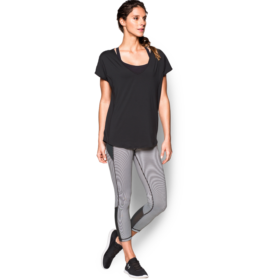 Under Armour Women's Studio Shape Shifter Crop Black