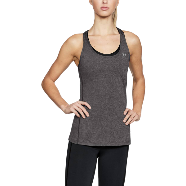 Under Armour Women's HeatGear Racer Tank Charcoal