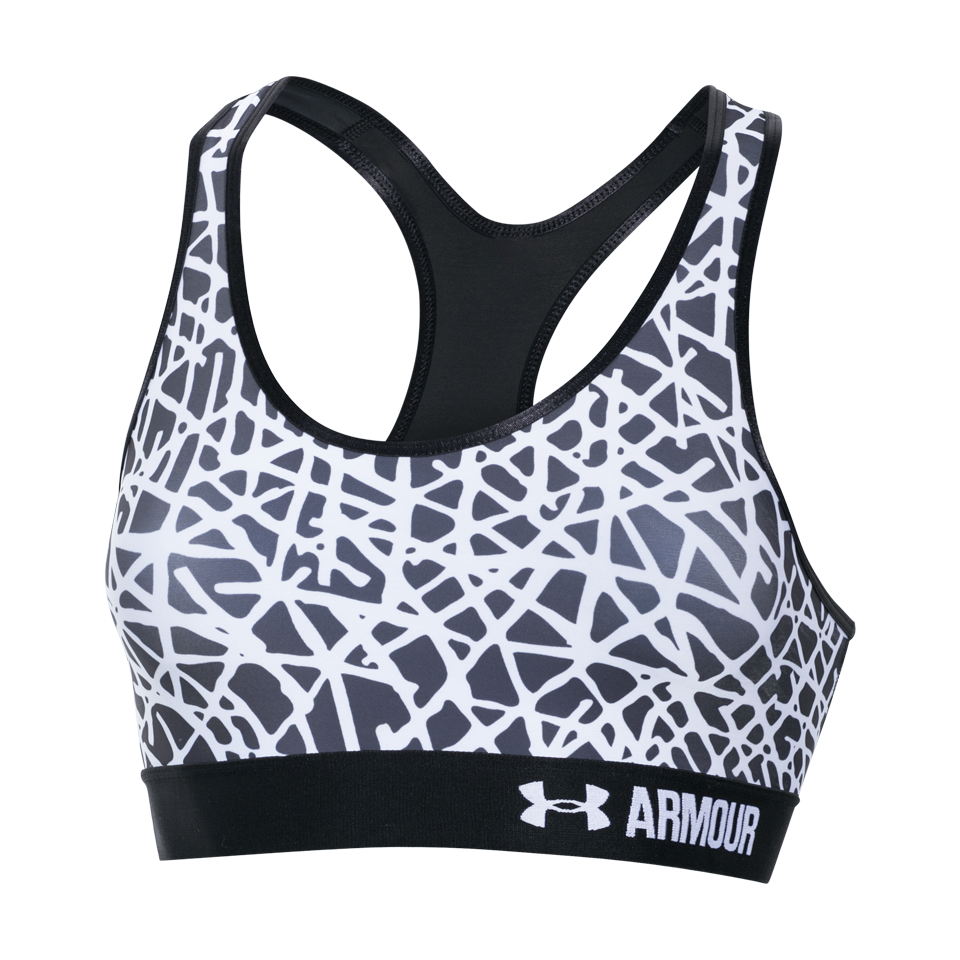 Under Armour Women's Armour Mid Bra Black Print