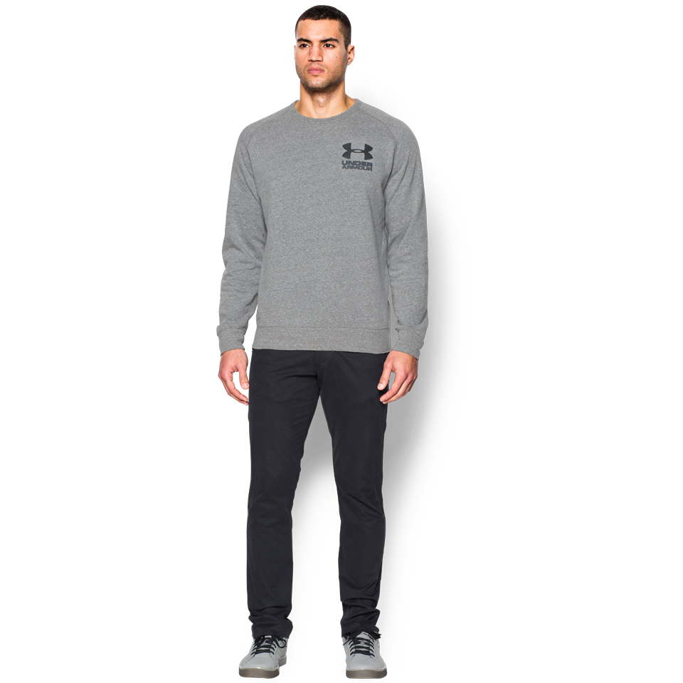 Under Armour Men's Sportstyle Tri-Blend Fleece Crew Greyhound Heather