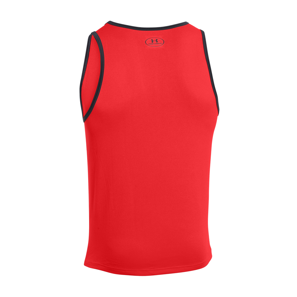 Under Armour Men's Tech Tank Graphic Rocket Red