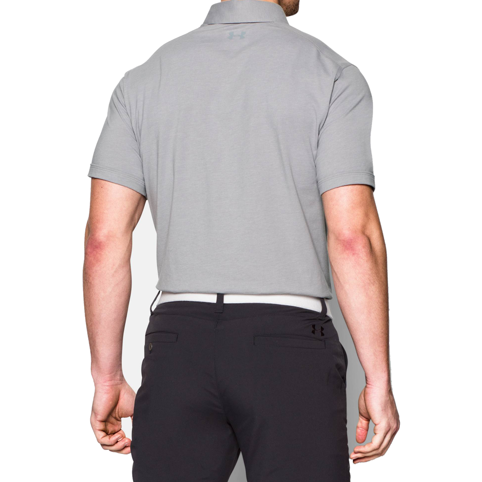 15aedac6 Under Armour Men's Charged Cotton Scramble Polo True Grey Heather ...