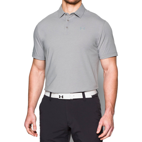 Under Armour Men's Charged Cotton Scramble Polo True Grey Heather