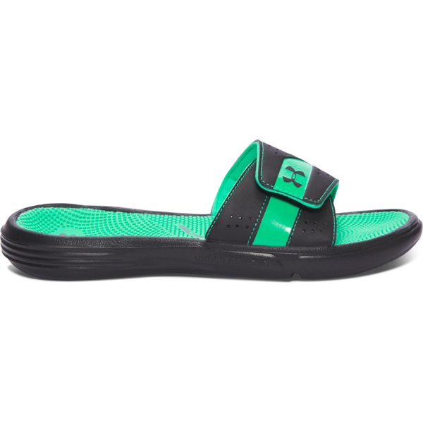 Under Armour Women's Micro G EV III Slide Black/Vapor Green