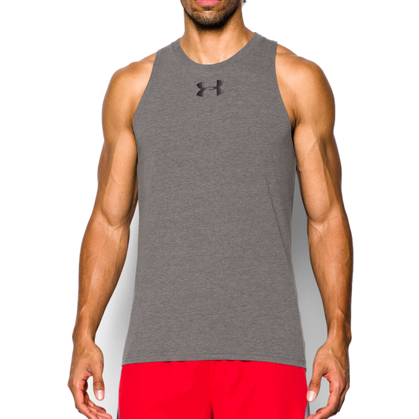 Under Armour Men's Baseline Cotton Tank Carbon Heather