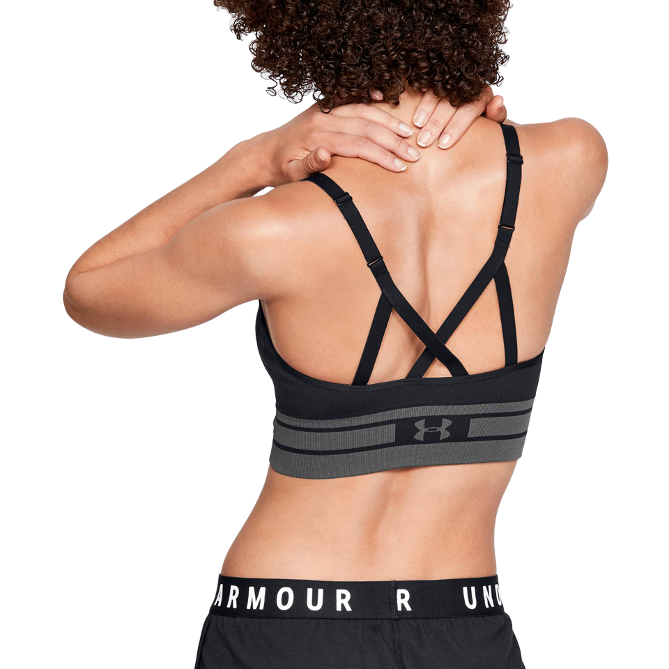8e0f5c7e5bd5b Under Armour Women s Seamless Longline Bra Black - Play Stores Inc