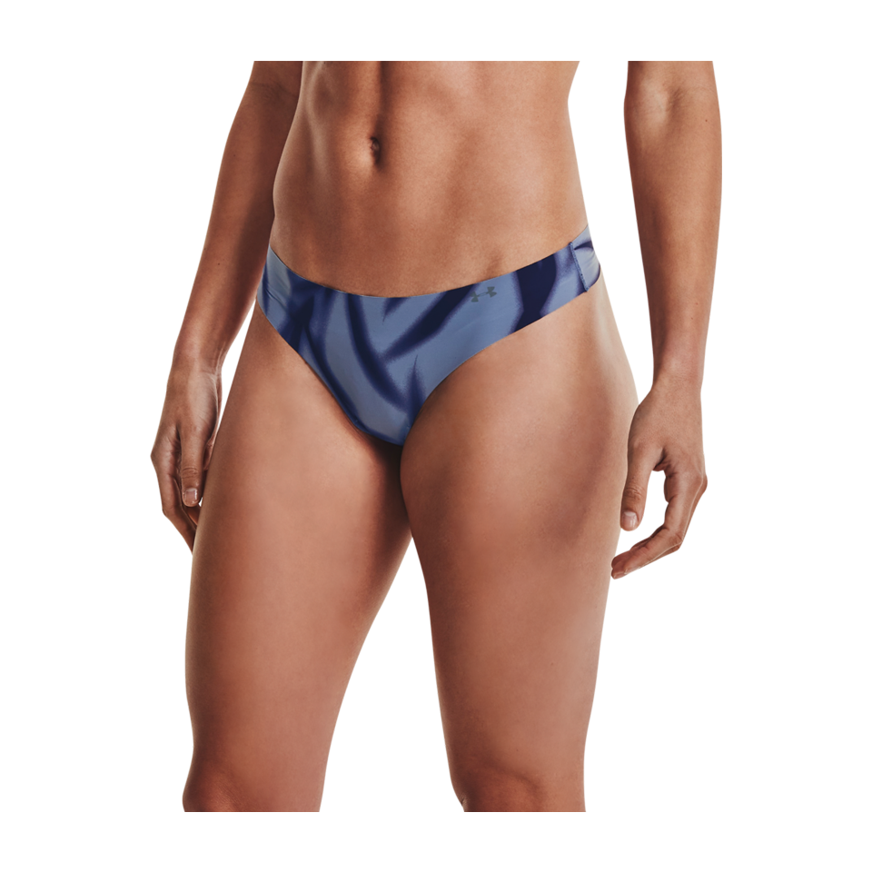 Under Armour Women's UA Pure Stretch Thong 3-Pack Mineral Blue