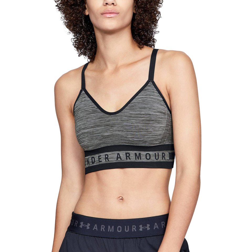 72dc1a19b2622 Under Armour Women s Seamless Longline Bra Charcoal Heather - Play Stores  Inc