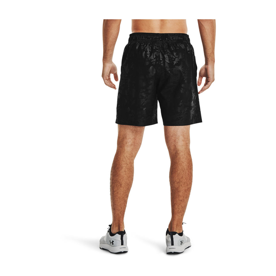 Under Armour Men's Woven Emboss Shorts Black