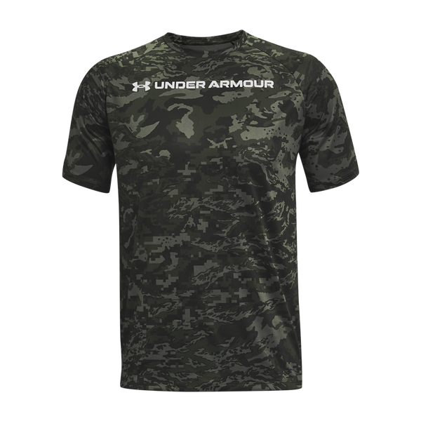 Under Armour Men's UA Tech ABC Camo Short Sleeve Surface Grey