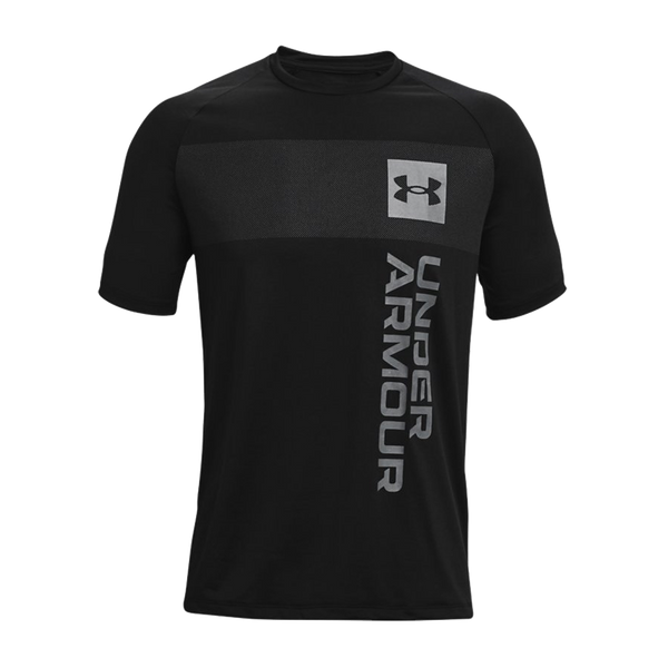 Under Armour Men's UA Tech 2.0 Vertical Wordmark Short Sleeve Black
