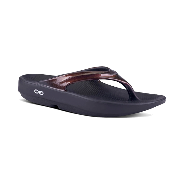 OOFOS Women's OOfos Thong Black/Cabernet