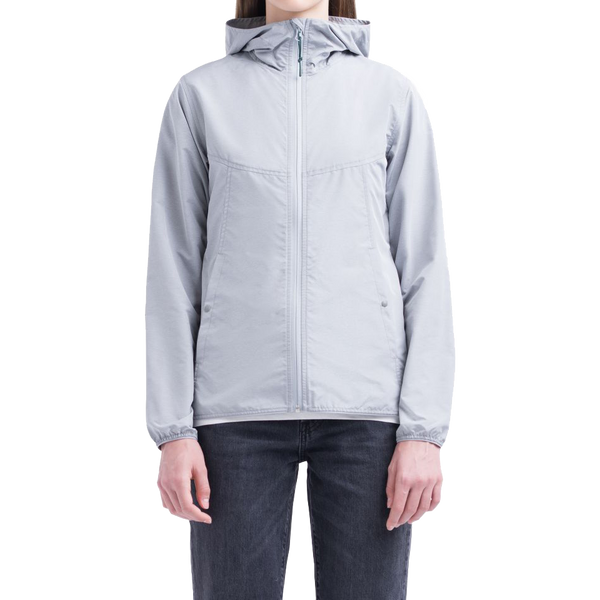 Herschel Women's Voyage Wind Jacket Light Grey Crosshatch