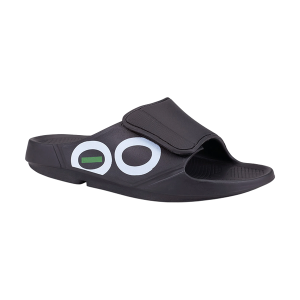 OOFOS Men's OOahh Sport Flex Black/White