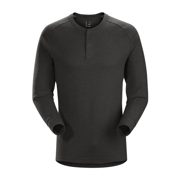 Arc'teryx Men's Sirrus Long Sleeve Henley Black Heather