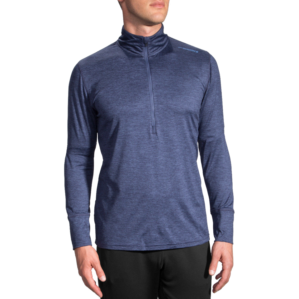 Brooks Men's Dash 1/2 Zip Heather Coast