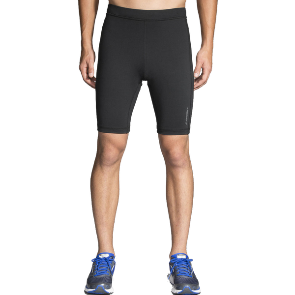 "Brook Men's Greenlight 9"" Running Short Tight Black"