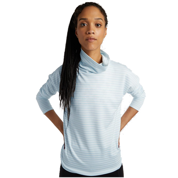 Oiselle Women's Big Stripe Mock Fresh Stripe