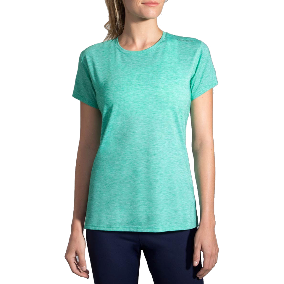 Brooks Women's Distance Short Sleeve Heather Parque