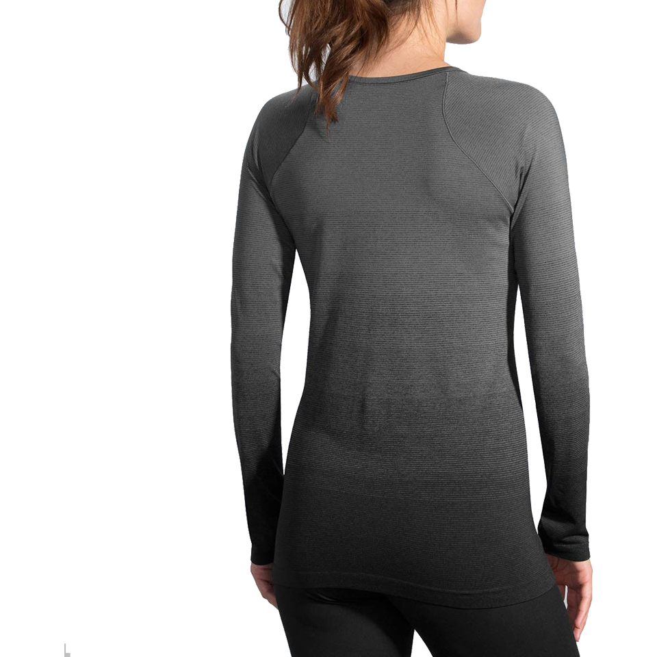 Brooks Women's Streaker Long Sleeve Black/Oxford