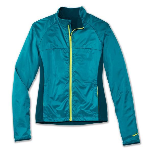 Brooks Women's Fusion Hybrid Jacket Sea/Deep Sea