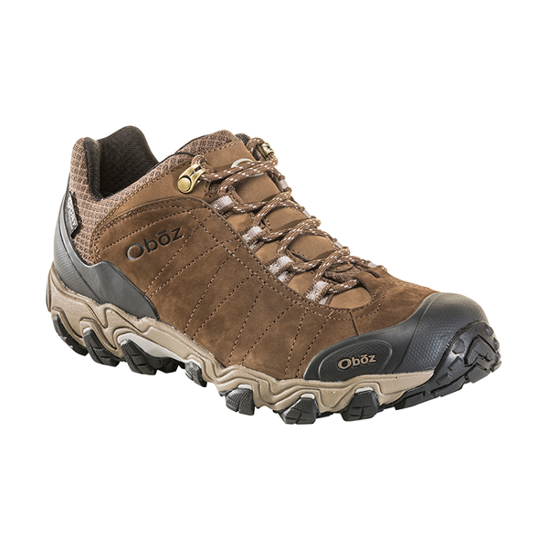 Oboz Men's Bridger Low B-Dry Waterproof Canteen Brown
