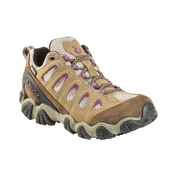 Oboz Women's Sawtooth II Low B-Dry Waterproof Violet