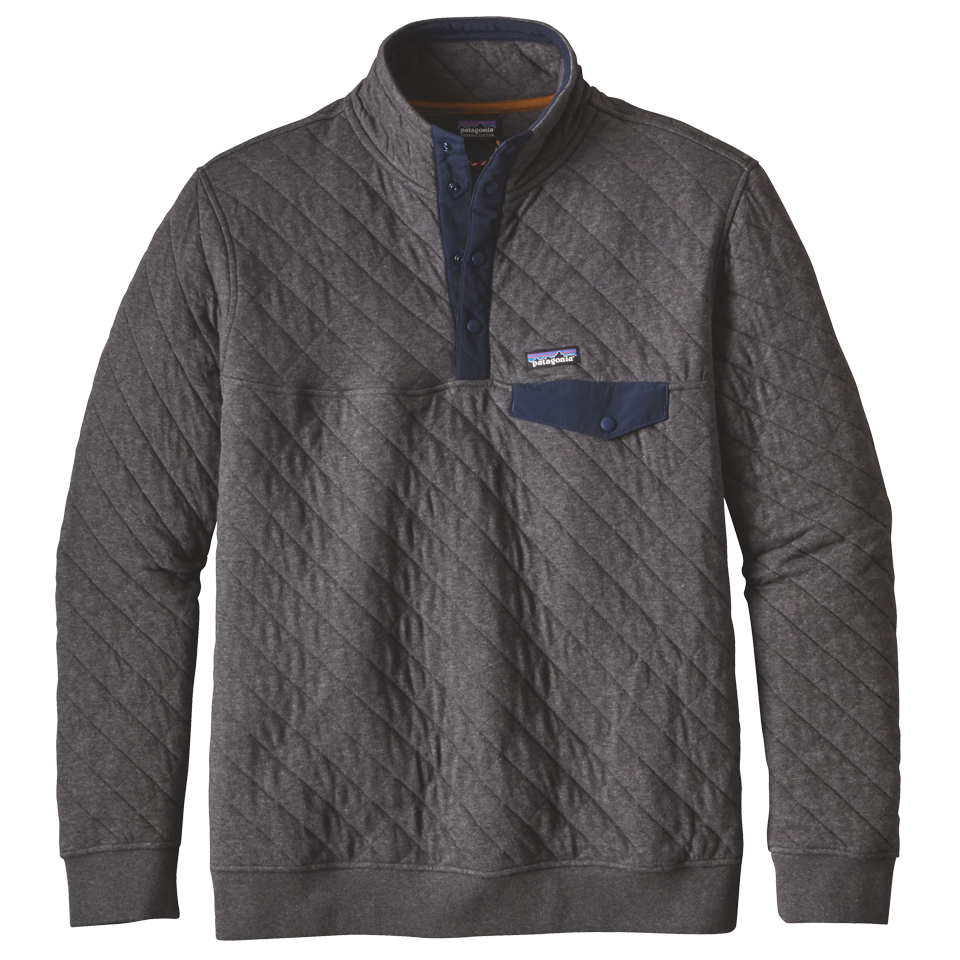 Patagonia Men S Organic Cotton Quilt Snap T Pullover Forge
