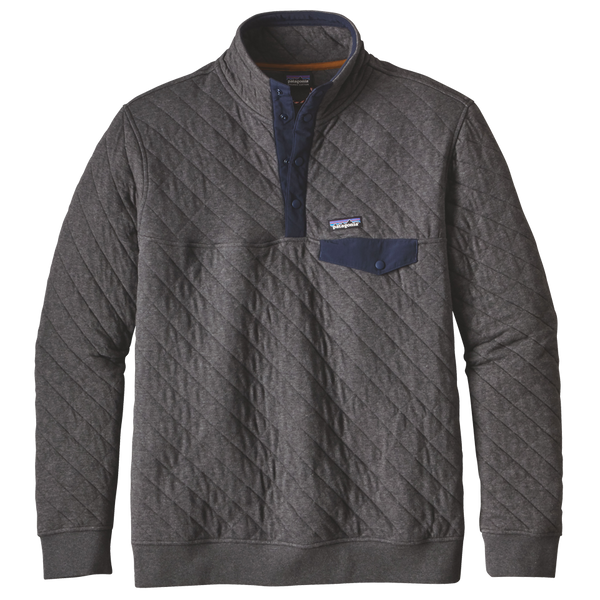 Patagonia Men's Organic Cotton Quilt Snap-T Pullover Forge Grey