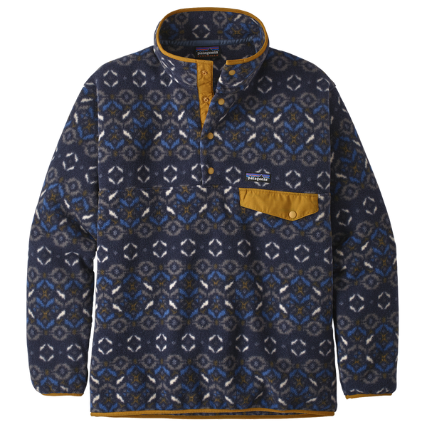 Patagonia Men's Synchilla Snap-T Pullover New Navy Print