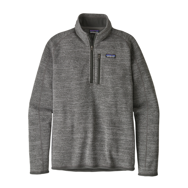 Patagonia Men's Better Sweater 1/4 Zip Nickel