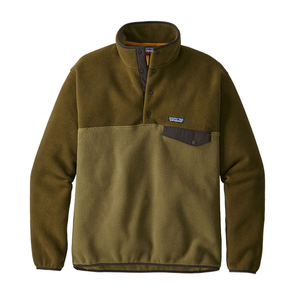 Patagonia Men's Lightweight Synchilla Snap-T Pullover Cargo Green