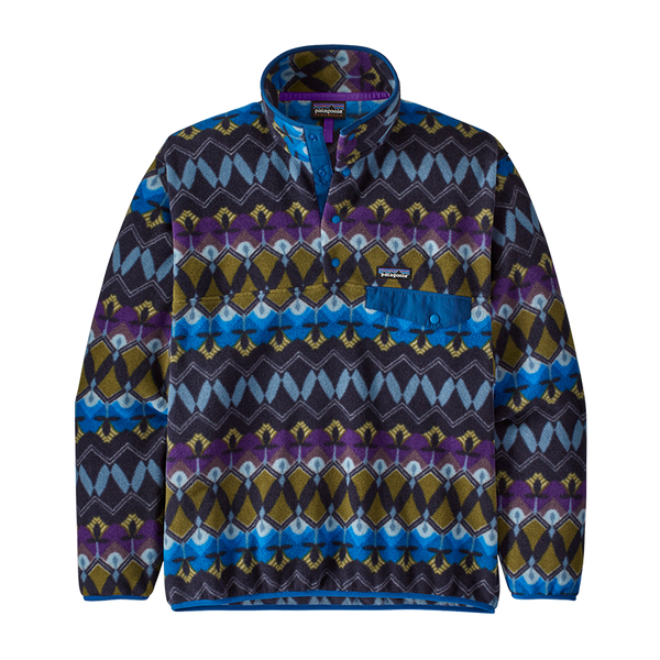 Patagonia Men's Lightweight Synchilla Snap-T Pullover New Navy Print