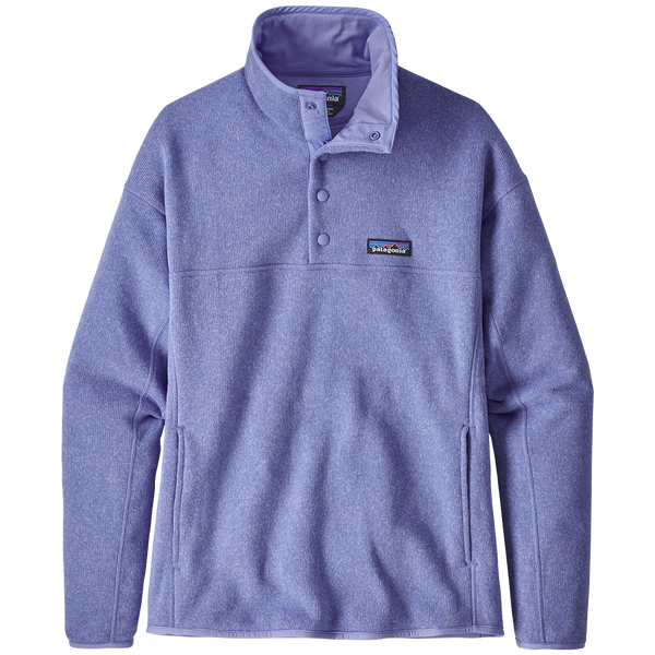 Patagonia Women's Lightweight Better Sweater Marsupial Pullover Light Violet Blue
