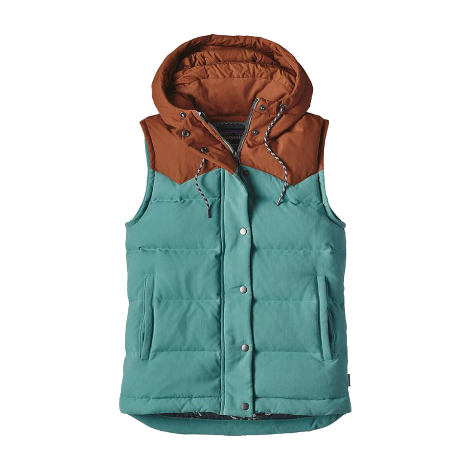 Patagonia Women's Bivy Down Hooded Vest Mogul Blue