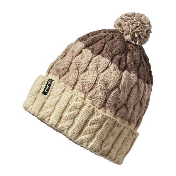 Patagonia Women's Pom Beanie Toasted White Stripe
