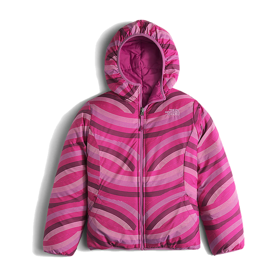 The North Face Girls Reversible Perrito Jacket Roxbury Pink