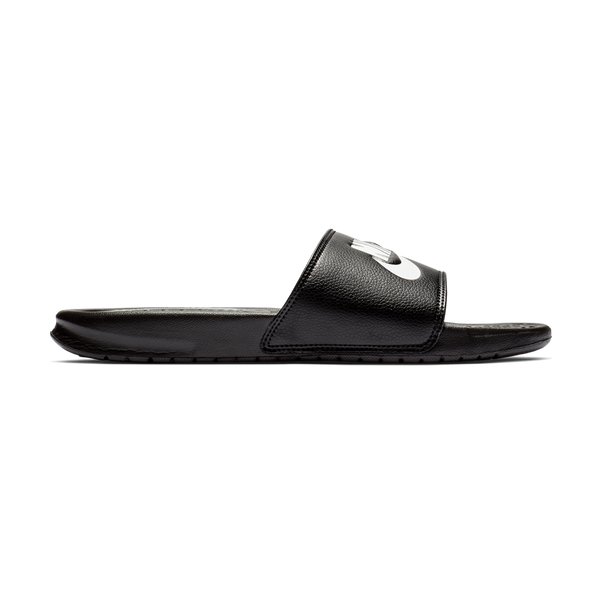 "Nike Men's Benassi ""Just Do It."" Sandal Black/White"