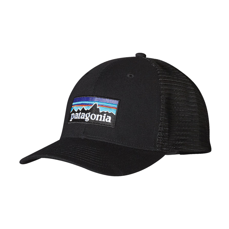 Patagonia P-6 Logo Trucker Hat Black - Play Stores Inc e311dfcc6c45